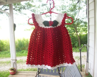 Dress,Crocheted,Newborn-Three Months,Photos,Baby,Girls,Infants,Gift.