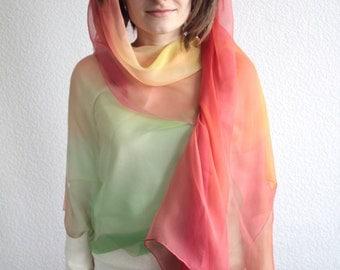 Lichi Rainbow Silk Scarf