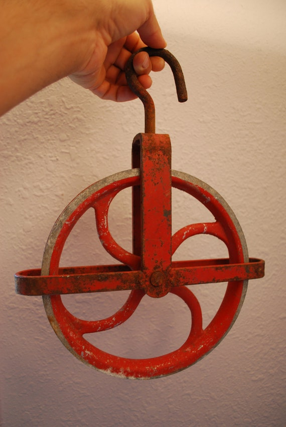 Vintage IRON PULLEY