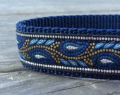 Royal paisley dog collar 1 in wide
