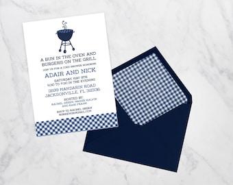 BBQ Baby Shower Invitation