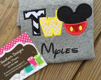 Mickey Mouse second birthday shirt