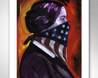 SUSAN B ANTHONY American Art Print 11x14 by Rob Ozborne