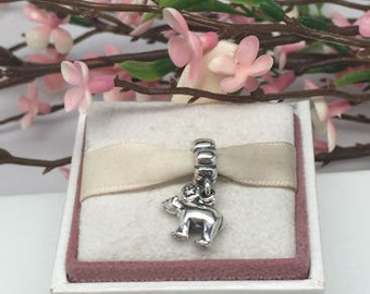 Authentic Pandora Retired winter POLAR BEAR dangle Charm For Bracelet  BEAUTIFUL