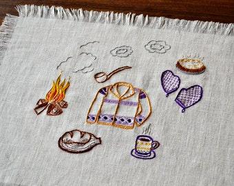 at the cabin embroidery pattern PDF