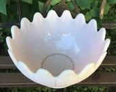 Vintage Martha by Mail Pink Milk Glass Flower Blossom Bowl LE SMITH