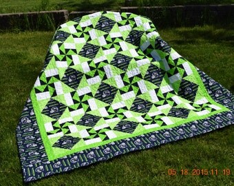 Seattle Seahawks Queen Quilt (Made to Order)