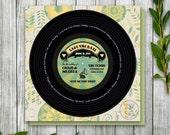 Vinyl Record Printable Save the Date for Wedding, Birthday Party Record Invitation, Retro Dance Party Invitation, Vintage Printable Invite