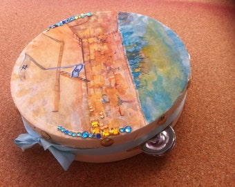 the Myriam 's tambourine of Rebellion-handpainted-each one is unique and made to order