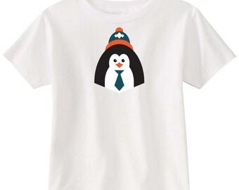 Kids Screen t-shirt - Hipster Penguin