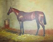 Original impasto oil horse painting on canvas