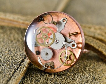 Handmade Copper Ring, steampunk ring, steampunk jewelry, Copper & Cogs,