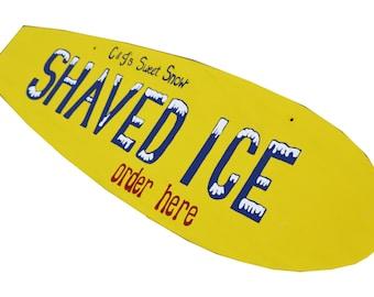 Custom Business Sign, Beach Themed Business Logo Sign, Surfboard Wall Art