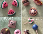 3 Polymer Clay Charms Bundle