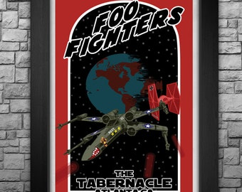 """FOO FIGHTERS inspired limited edition 11x17"""" tour poster"""