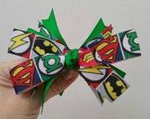 Green lantern bow. Back to school. Birthday. Halloween. Geek. Valentines day. Ready to ship