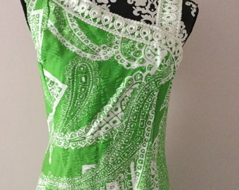 Vintage 1970s Lime Green lee stevens of Miami Maxi Dress