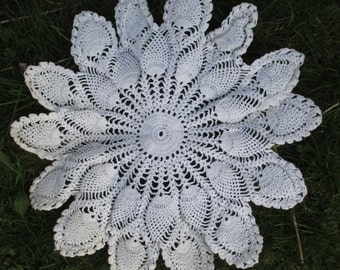 Vintage doily handmade crochet home decor