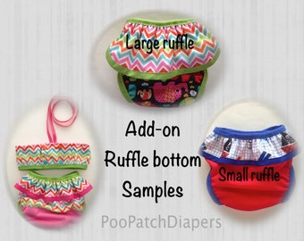 Ruffle-Skirt Add on.  Add a ruffle-skirt to your Custom Swim Diaper Order