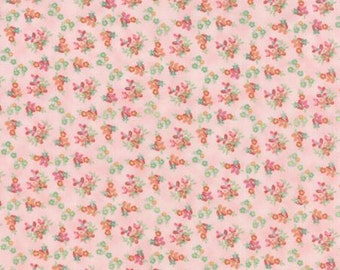 Basicgrey Fresh Cut for Moda - Floral Violet Garden - Pink - Pink Flambe - 1/2 yard cotton quilt fabric 516
