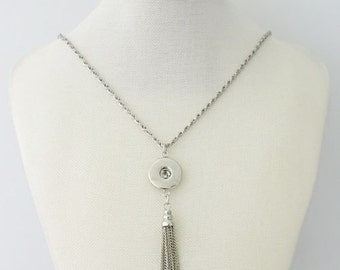 """1 Necklace - 33"""" FITS 18MM Candy Snap Charm Jewelry Silver kb0223 CJ0094"""