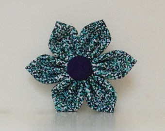 Navy Purple Green Abstract Dot Dog Collar Flower Wedding Accessories Spring Easter Summer Collar Made to Order