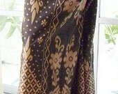man's sarong Chocolate Brown and Tan pattern  PP1