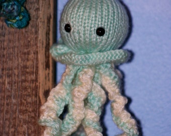 Little Knit Jellyfish Amigurumi Doll or Decor