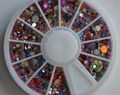 Loose Rainbow Assorted Shape Rhinestone Wheel.