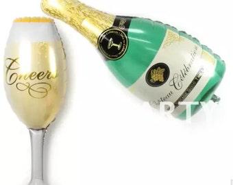 Balloons  -  Wineglass Balloon Champagne Balloons Big Ballon Wedding Balloon ( Wedding Decor & Party Balloon Supplies )