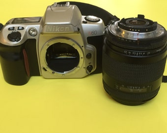 Nikon N60 Film Camera with 70-210mm Quantaray NF AF Lens and Tamarac Camera Strap