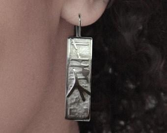 Abstract Silver Earrings, Sterling Silver, Jewellery, Jewelry