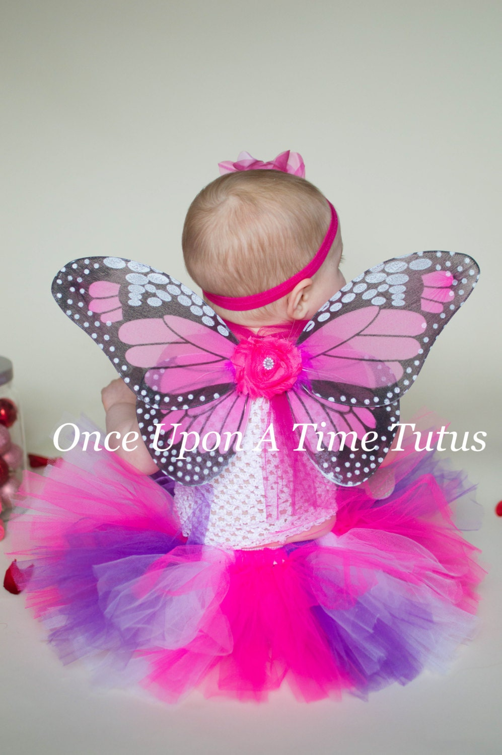 Hot Pink Monarch Butterfly Wings Baby Butterfly Costume