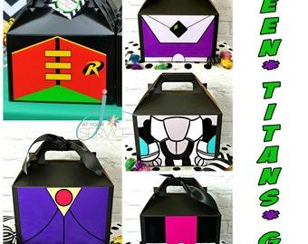 Teen Titans Go Inspired Favor Boxes
