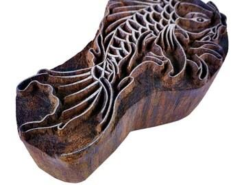 FIsh / Mermaid Wood Block for Printing - Wood Block for Printing - Textile Printing Stamp