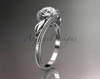 Unique platinum  engagement ring ADLR322
