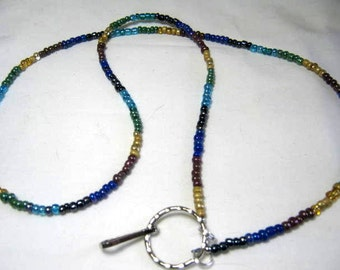 ID Badge Holder Beaded Lanyard Identity Chain Necklace