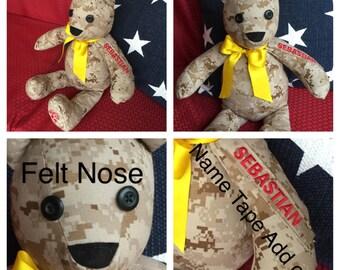 Military Cammie Bear