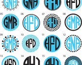 Two - Toned Circle Monogram Smaller Options - Vinyl Decalz