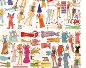 Malibu Barbie Vintage Paper Doll 4 SETs Summer Beach Barbie Collections Fashion Printable Digital Download Barbie Birthday Party