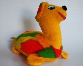 Vintage Plush Turtle, Stuffed Animal