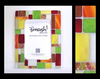 Pastiche: Spicy - 4x6 Stained Glass Mosaic Picture Frame