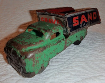 Pressed Steel Toy Sand And Gravel Truck