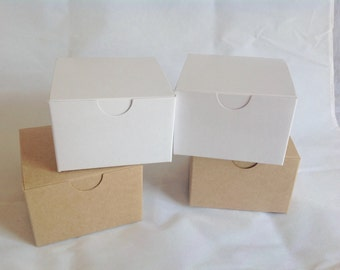 20 White Gift Boxes 3x3x2 shower wedding favors