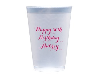 50 Personalized Plastic Party Cups