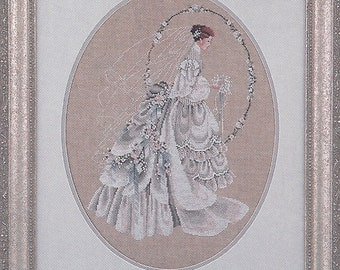 "Clearance - ""The Bride"" Counted Cross Stitch Chart by Lavender & Lace"