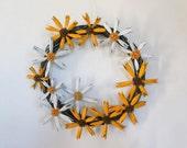 Summer Flower Wreath Black Eyed Susans Daisies