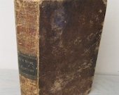 Antique Leather Religious Book - Fox's Book Of Martyrs - 1844 - Illustrated - Religious Biographies - Rare Publisher