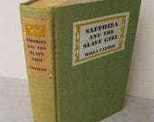 Vintage Slavery Novel - Sapphira and the Slave Girl by Willa Cather - 1940 - Classic Fiction