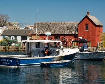 Motif no. 1 with Boat and Reflection 8 x 12 photo print